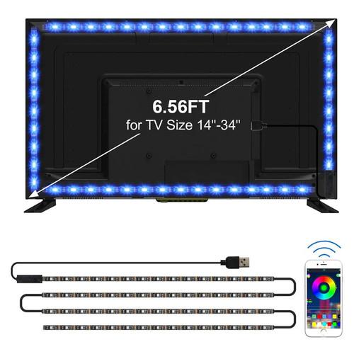 6.56ft. LED TV Back Light - Color Changing RGB - Capetronix