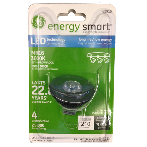 MR16 LED Bulbs - 4W - 210 Lumens - GE Lighting