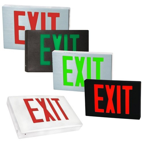 Cast Aluminum LED Exit Sign - 120/277V - Morris