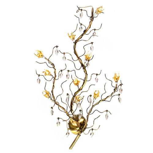 Ramo 10 Light Sconce - Flush Mount - Antique Brass