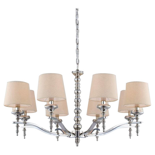 Jana - 8 Light Chandelier - Polished Nickel