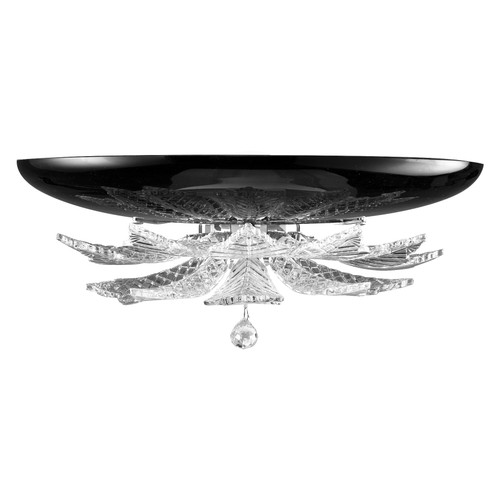 Orleans Wall Sconce - Black and Crystal