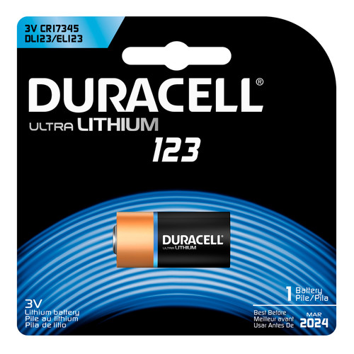 Duracell 123 Lithium Battery - 3V - 1/Pack