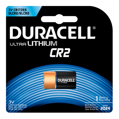 Duracell CR2 Lithium Battery - 3V - 1/Pack