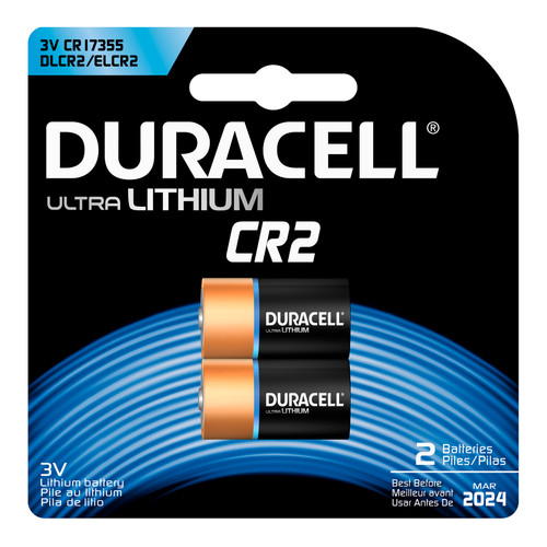Duracell CR2 Lithium Battery - 3V - 2/Pack