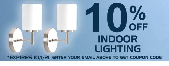 10% Off Indoor Lighting Fixtures