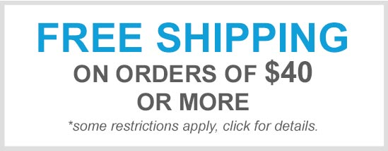 Free Shipping on orders $40 or more
