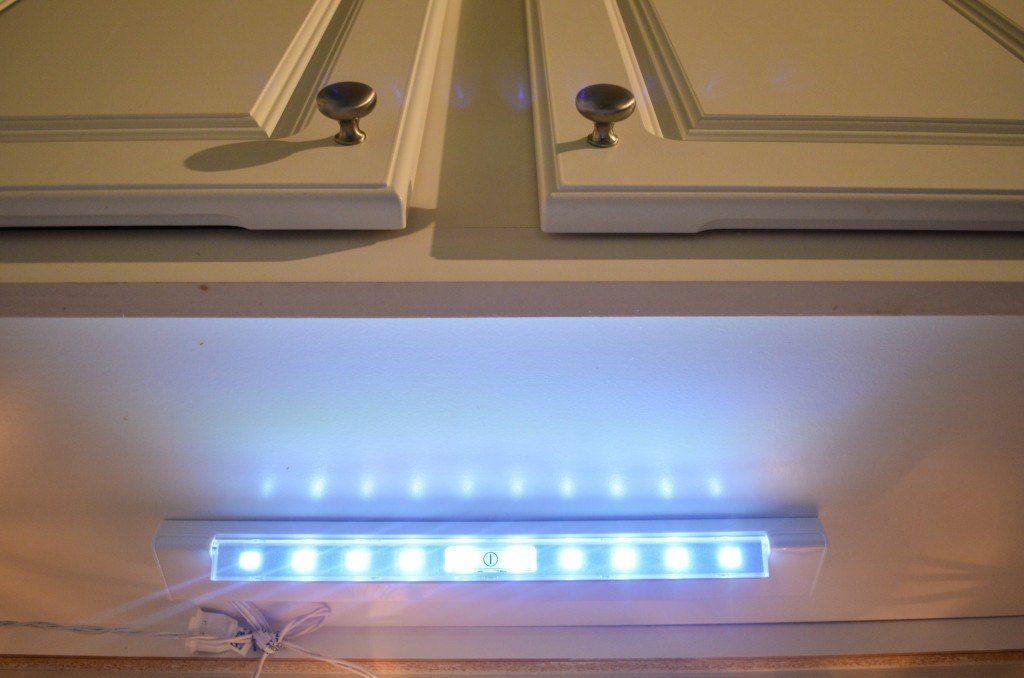 Alternate view of LED battery under cabinet light