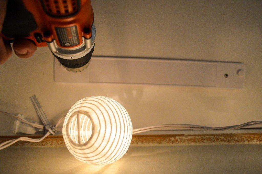 Installing bracket for under cabinet light