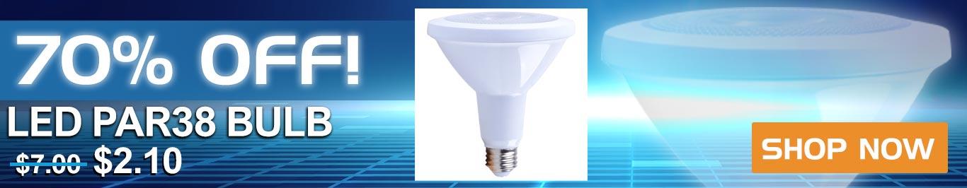 70% Off Par 38 Bulbs