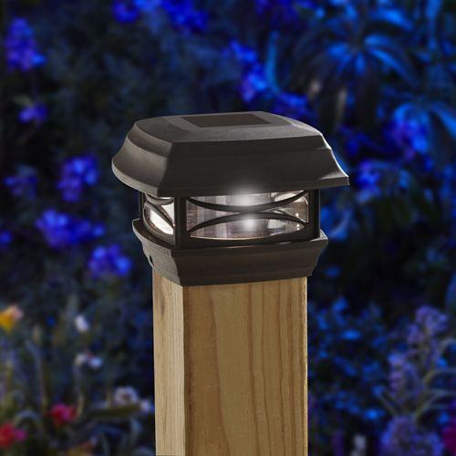 Solar postcap on a deck