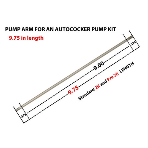 """Autococker Pump Arm 9.75""""  inch  ( 2K and Pre 2k ) Stainless"""