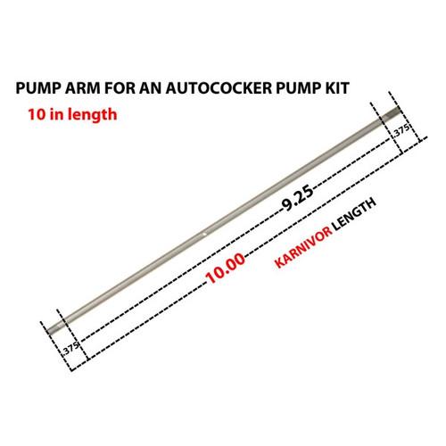 """Autococker Pump Arm 10"""" inch  ( Karnivor ) Stainless"""