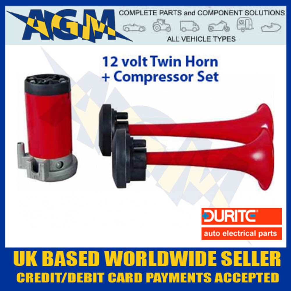 Air Horn Compressor >> Durite 0 642 00 12 Volt Twin Air Horn Set With Compressor