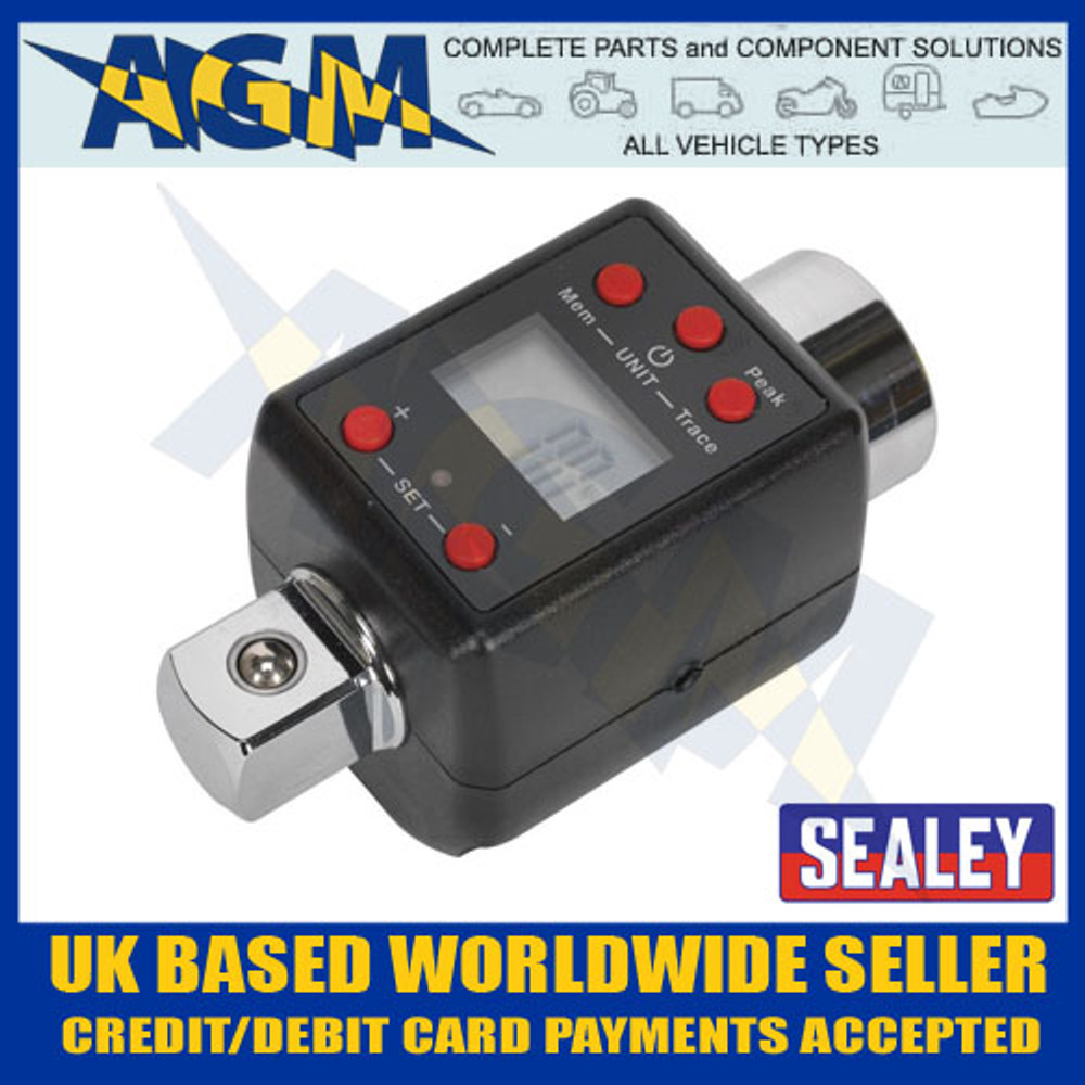 Automotive Tools & Supplies Sealey STW291 Torque Adaptor with Angle Function Digital 1/2Sq Drive 20-200Nm Hand Tools