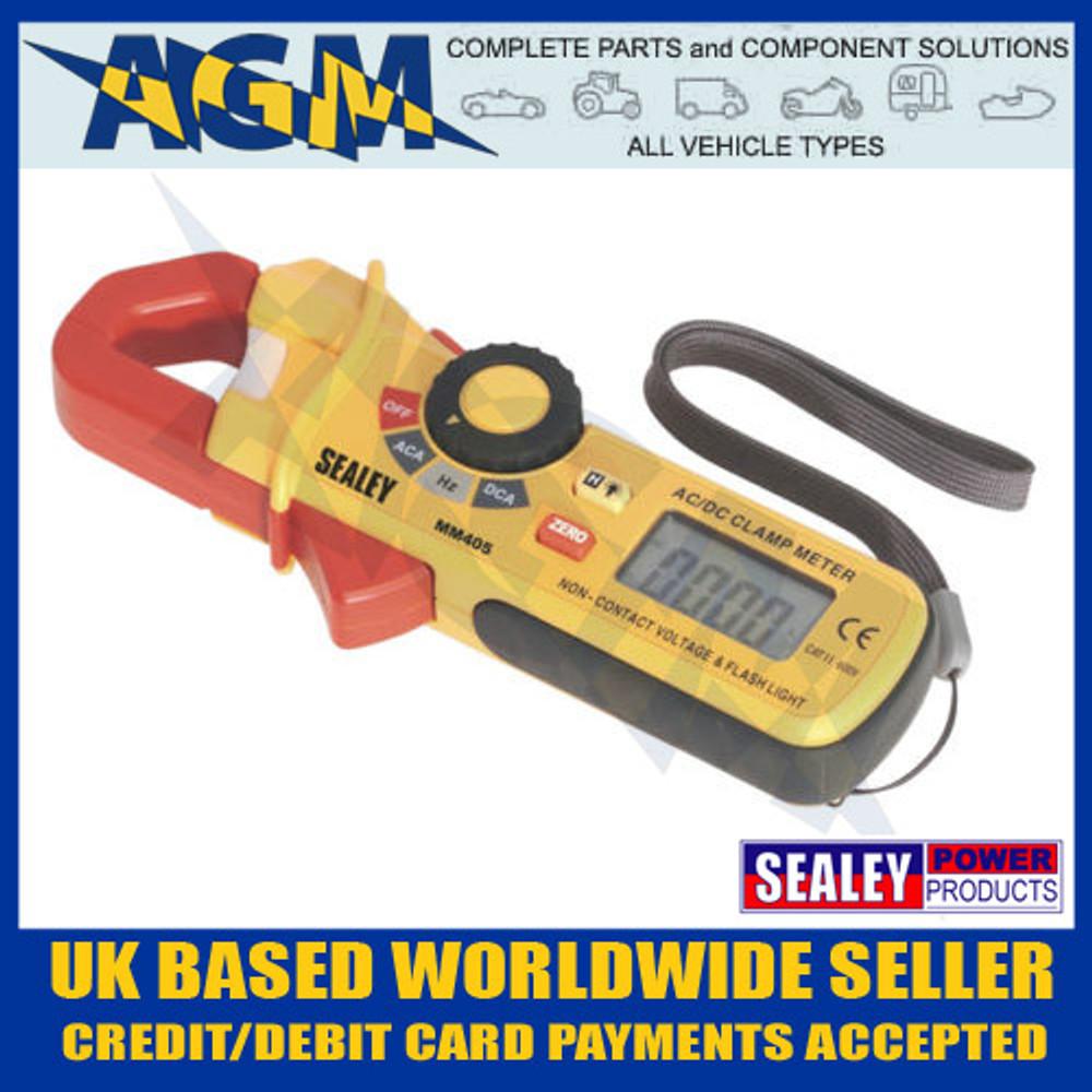 sealey, mm405, voltmeter, ammeter, ac, dc, clamp, meter, clip