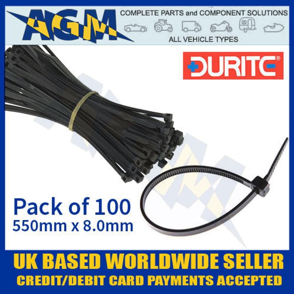 durite, 0-002-68, 000268, black, cable, tie, 550, 8