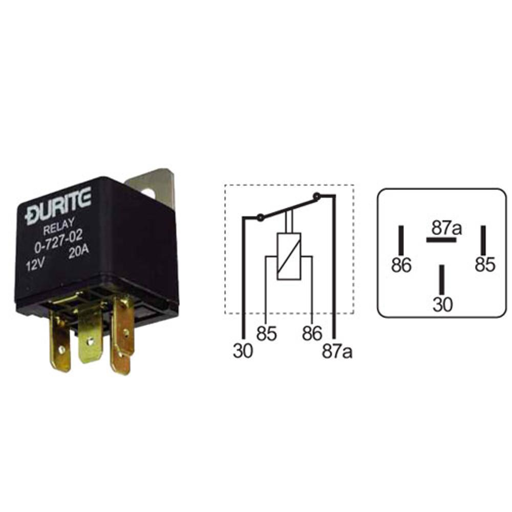 12 volt 20 amp Make or Break Relay, 0-727-02
