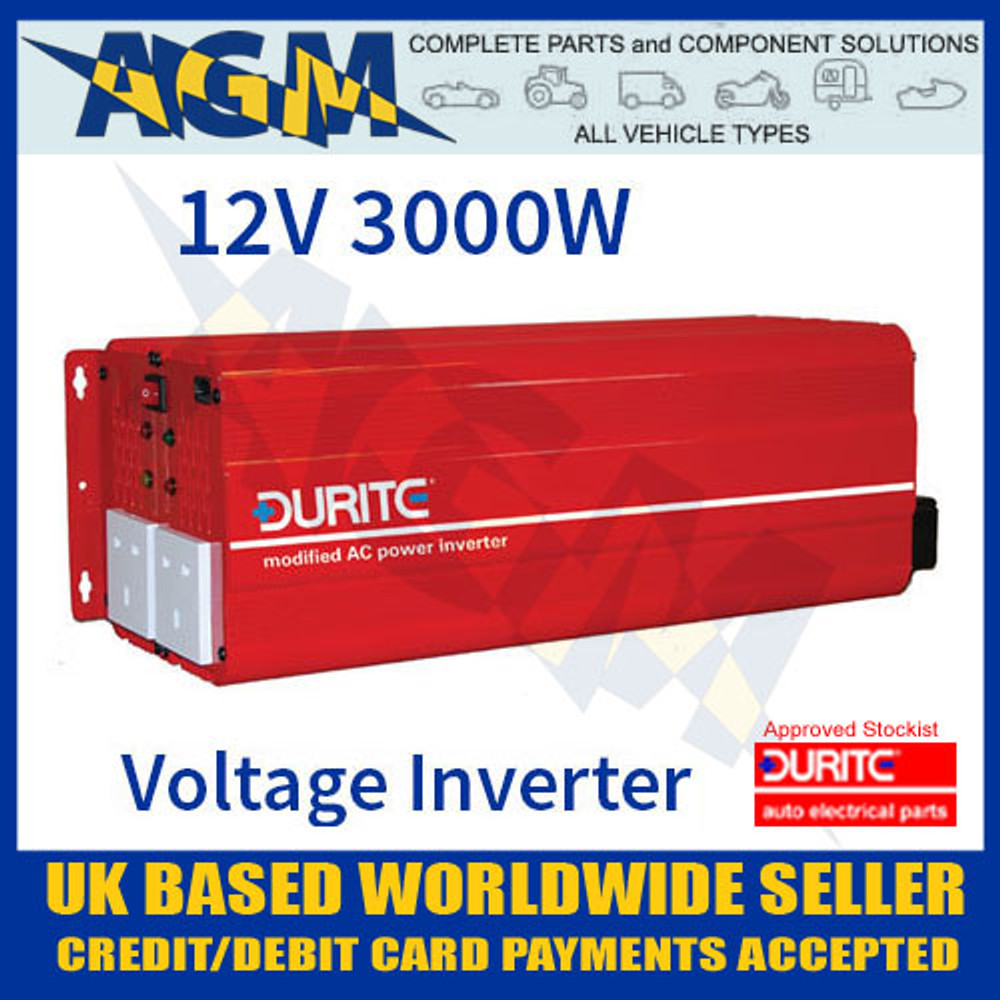 durite, 0-856-30, 085630, 12v, 3000w, 3kw, modified, wave, voltage, inverter