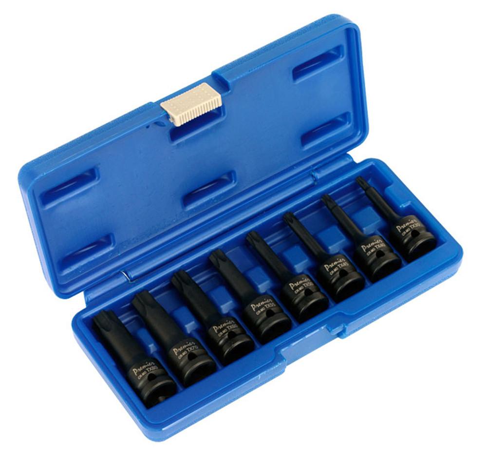 """AK5602 Sealey, Impact TRX-Star Socket Bit Set 8pc 1/2""""Sq Drive"""
