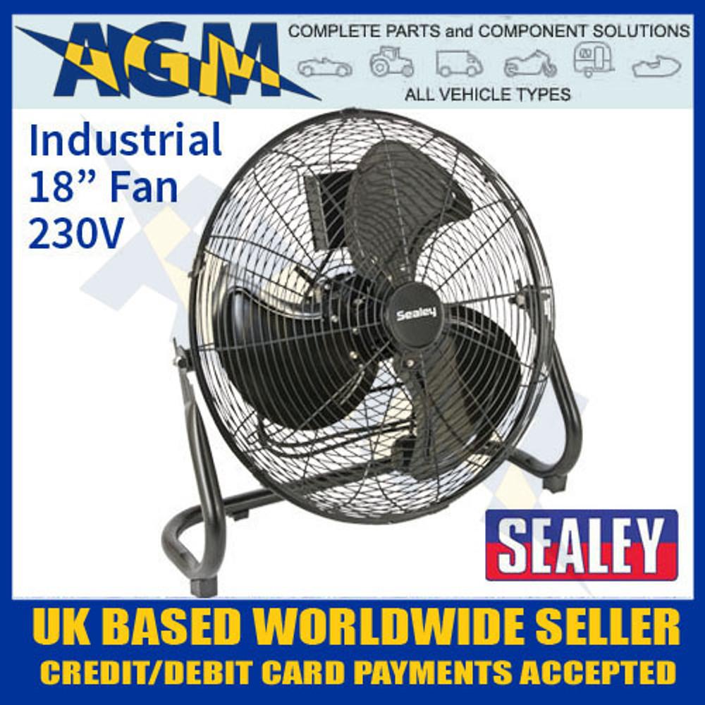 sealey, hvf18, industrial, high, velocity, floor, fan, 230v