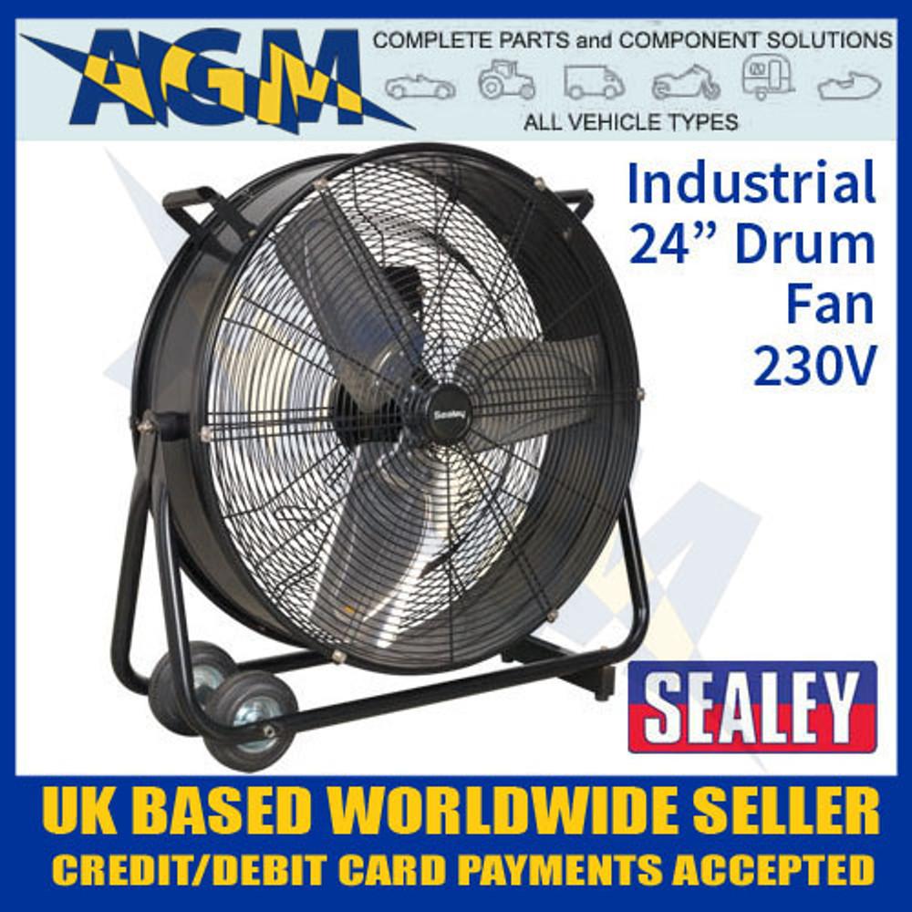 sealey, hvd24, industrial, high, velocity, drum, fan, 230v