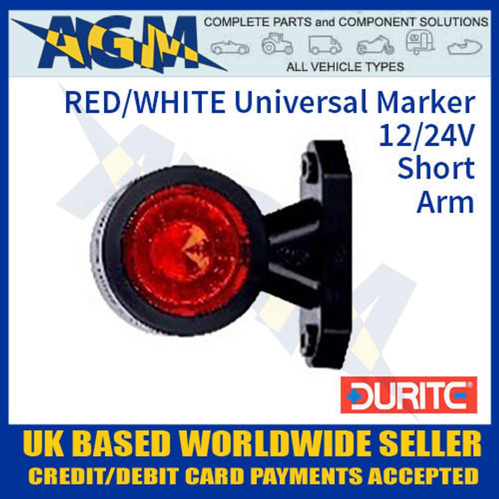 durite, 0-172-20, 017220, red, white, universal, led, outline, marker, lamp, 12v, 24v