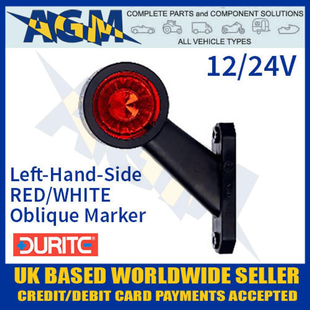 0-172-31 LH Red/White Oblique LED Outline Marker Lamp 12/24V