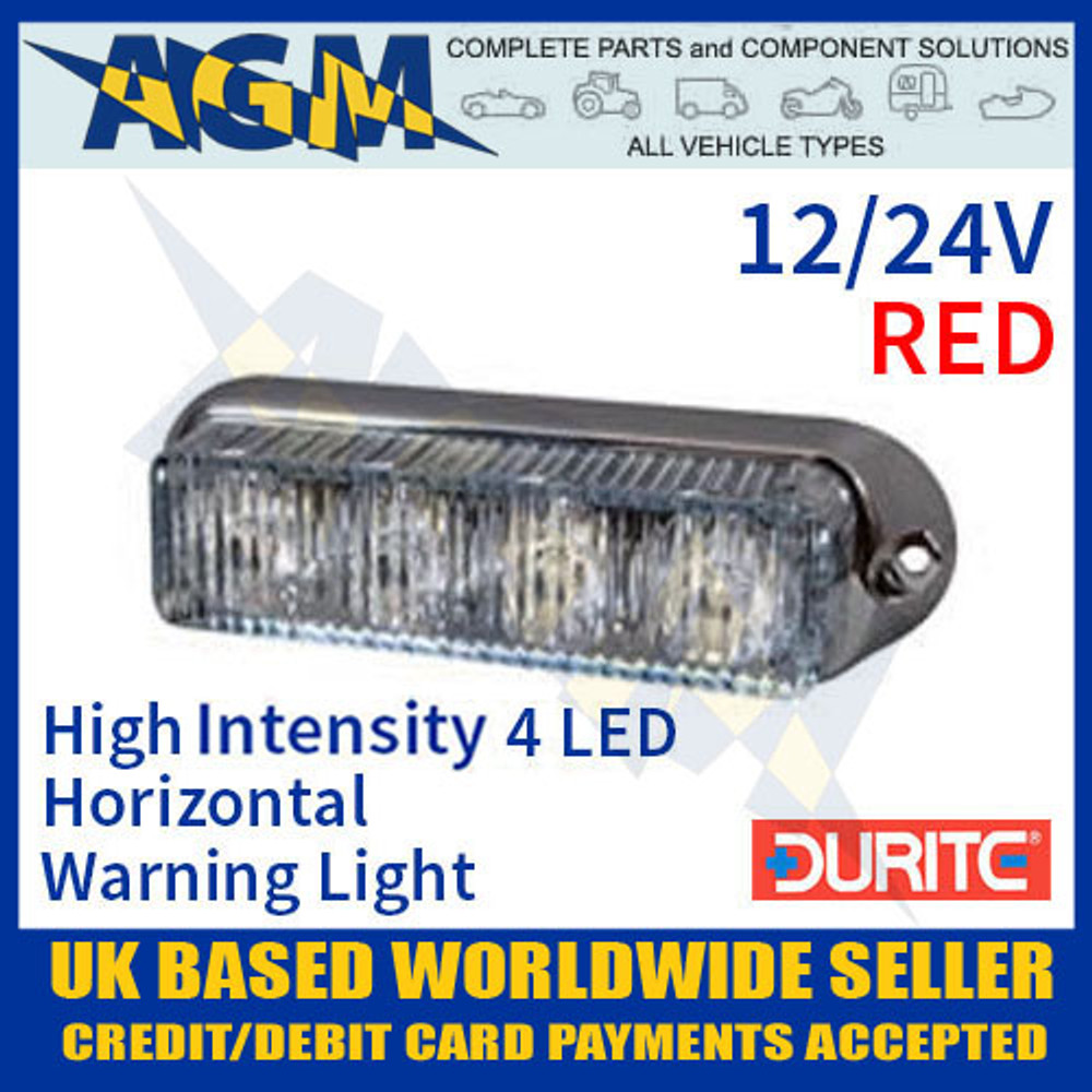 0-442-15, 044215, red, high, intensity, led, horizontal, warning, light, 12v, 24v