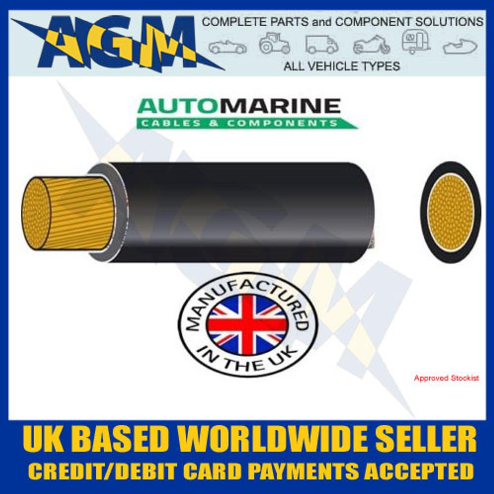 PVC20, FLEXIBLE BATTERY CABLE, 20MM², 135 AMP, 10 METRE REEL, BLACK, Auto Marine, PVC,