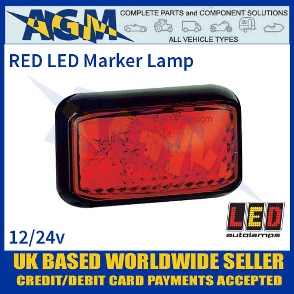 35RME RED 4 LED Marker Lamp, Multivolt 12-24 Volt with 40cm Hardwired Cable