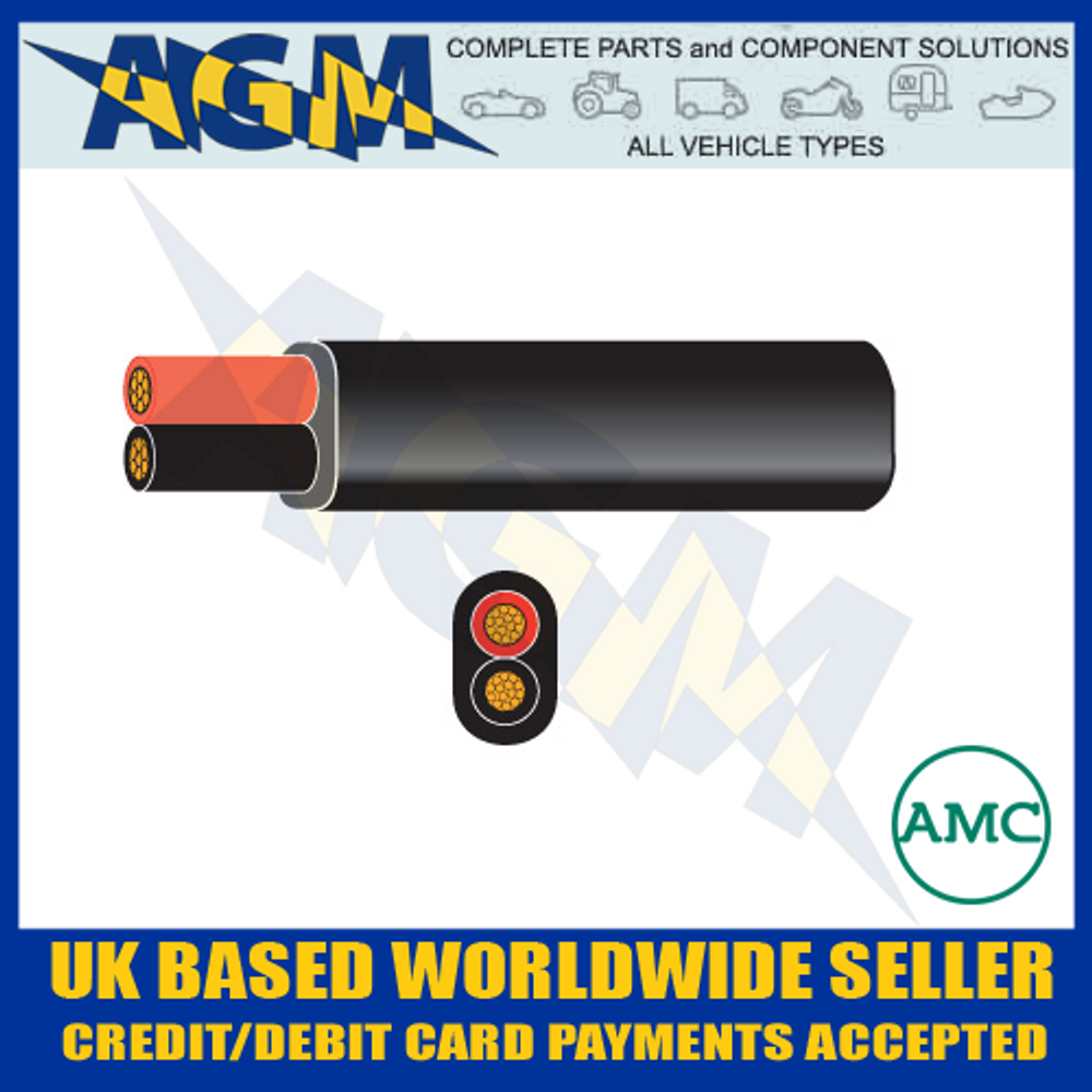 Auto-Marine 1650.30/Durite 0-952-51 Flat Twin Core Cable 30 Metre Roll