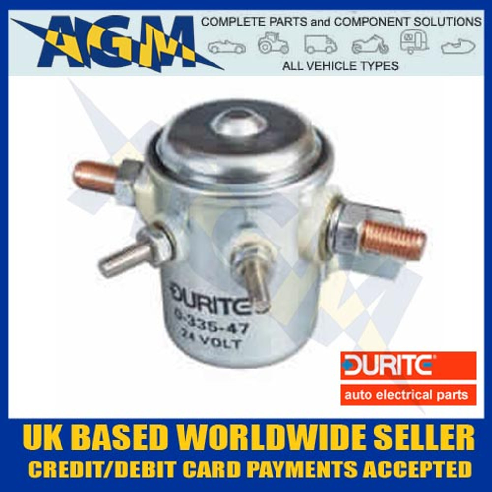 Durite 0-335-47, 24V Make/Break Universal Solenoid, 50A