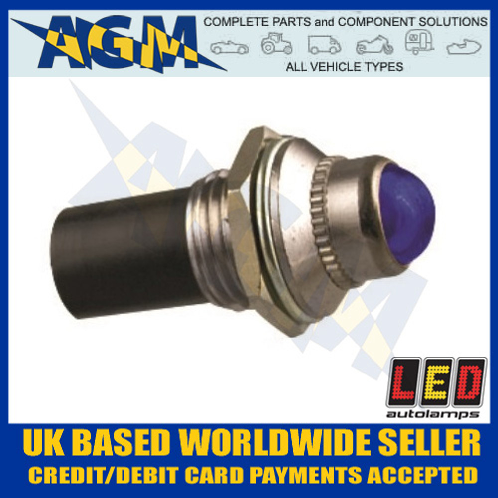 led, autolamps, plb24, blue, 24v, pilot, light