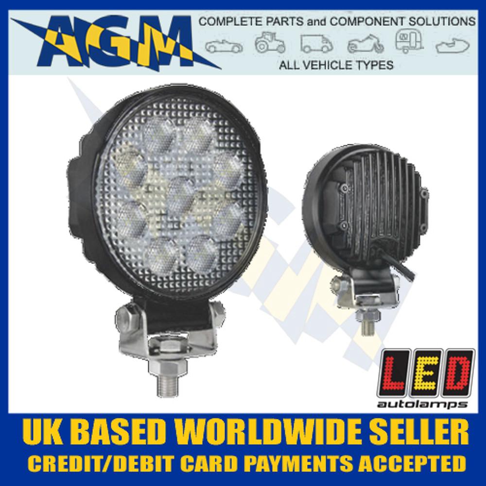 led, autolamps, 10715bm, round, flood, lamp, 12v, 24v