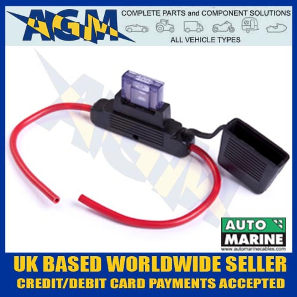automarine, fh620.1, heavy, duty, splash, proof, maxi, blade, fuse, holder