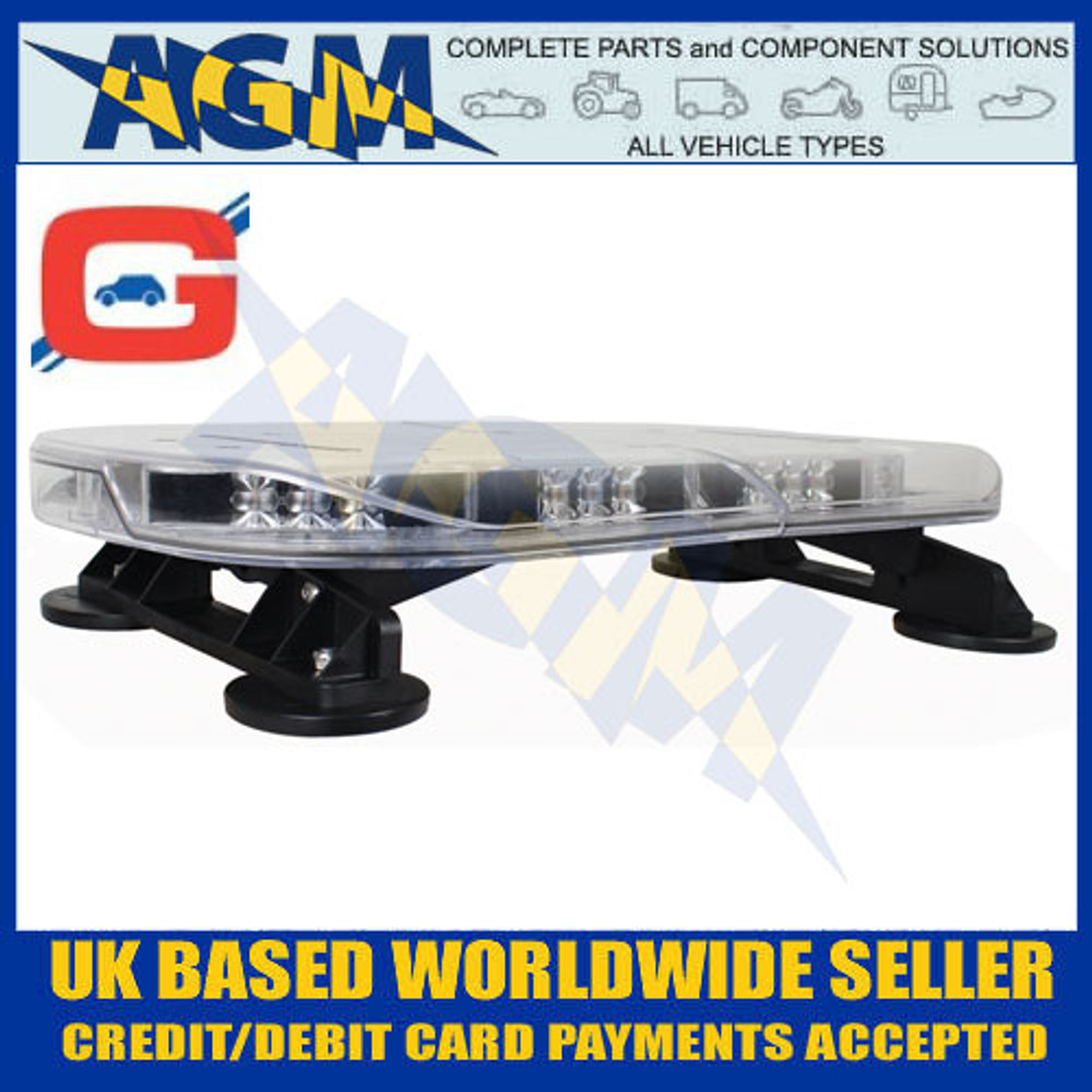 guardian automotive, amb210, low profile covert light bar, 550mm, magnetic fixing