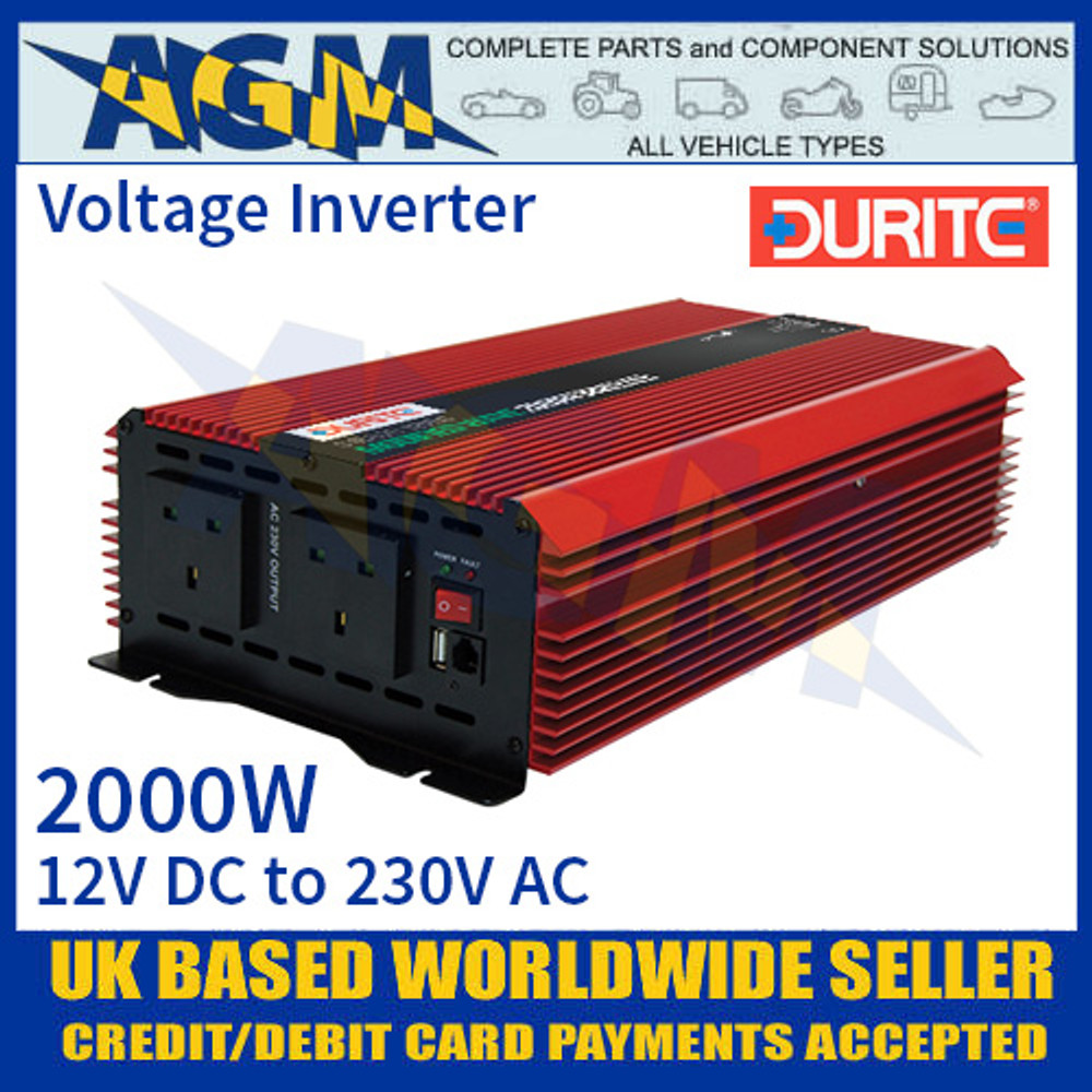 2000W 12V DC to 230V AC Compact Modified Wave Voltage Inverter