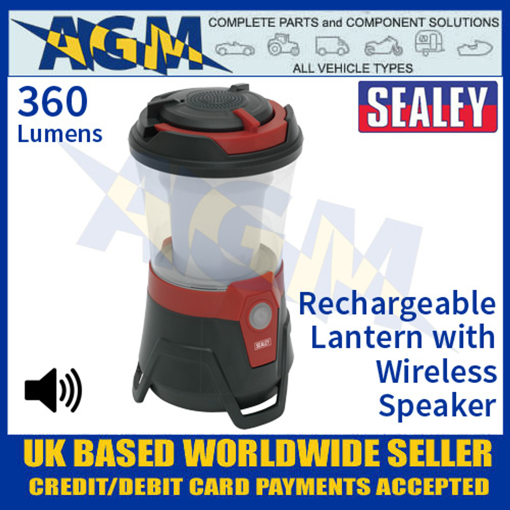 Sealey LED183 Rechargeable Lantern 10 SMD LED with Wireless Speaker