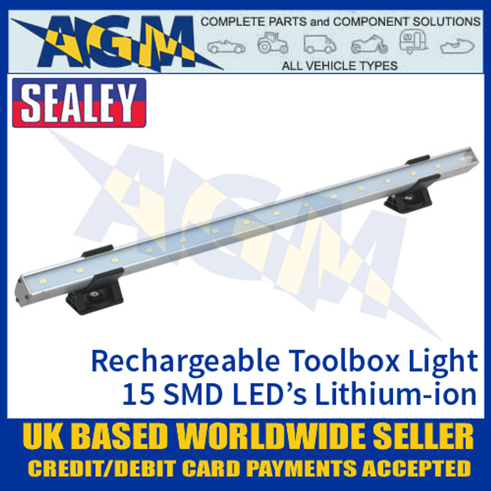 Sealey TBL450 Toolbox Light Rechargeable 15 SMD LED Lithium-ion