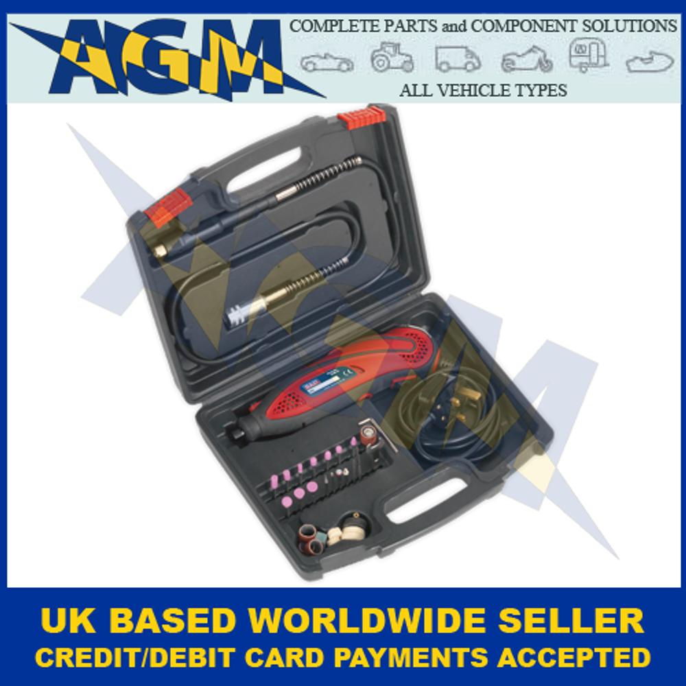 Sealey E5188 Multi-purpose Rotary Tool and Engraver Set 219 Piece 230V