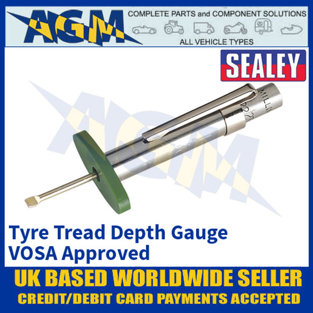 Sealey TST/DG Tyre Tread Depth Gauge VOSA Approved, Tyre Tread Gauge