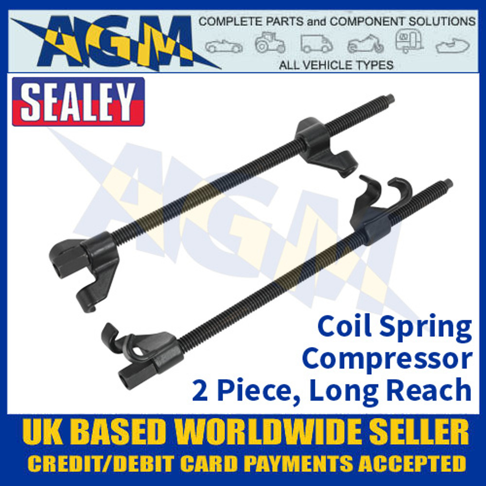Sealey AK3846 Coil Spring Compressor, 2 Piece, Long Reach Coil Spring Compressor