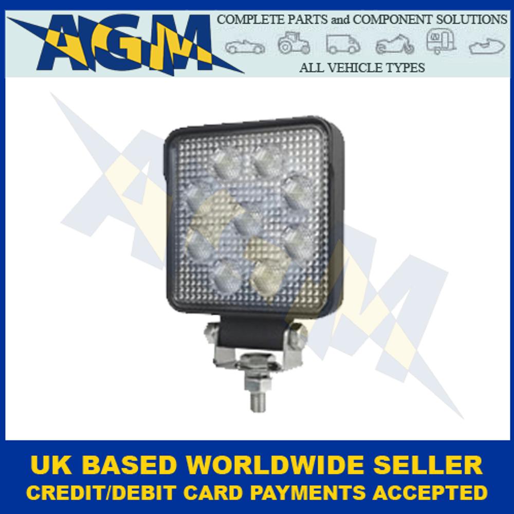 Hella 1GA357103-012, Value Fit, S1500 LED Square Work Or Reverse Lamp, 10-30v