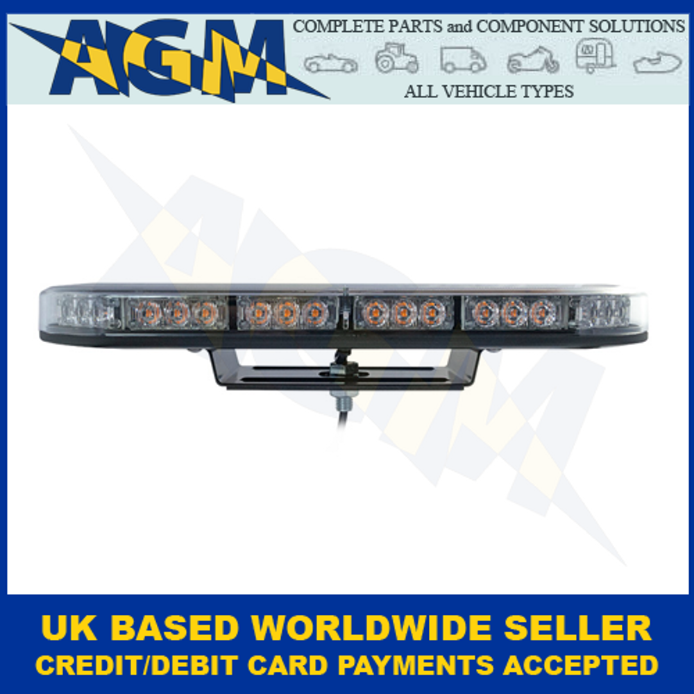 LED Autolamps, MLB380R10ABM, Single Bolt, Led Mini Light Bar, Amber, 12/24v