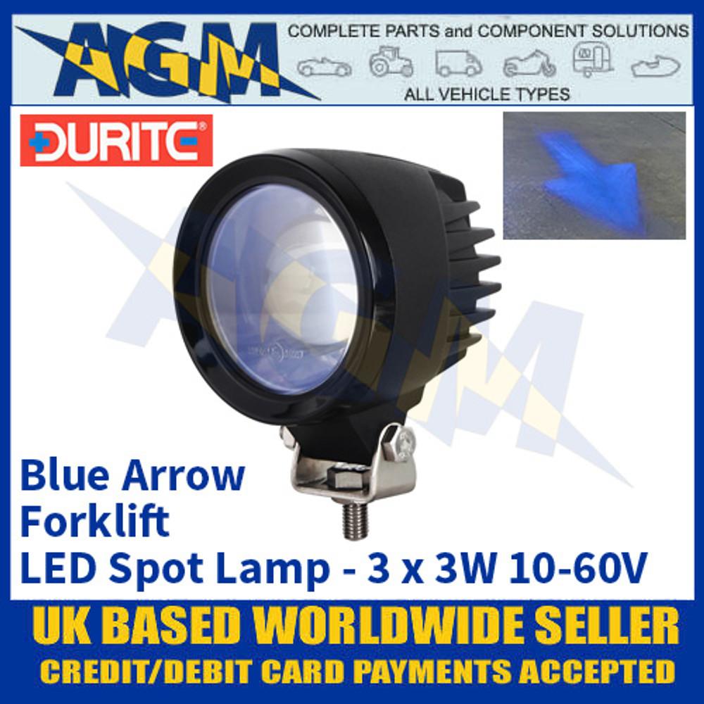 Durite 0-420-84 Forklift Safety Zone LED Blue Spot Safety Light/Lamp - Multi-voltage