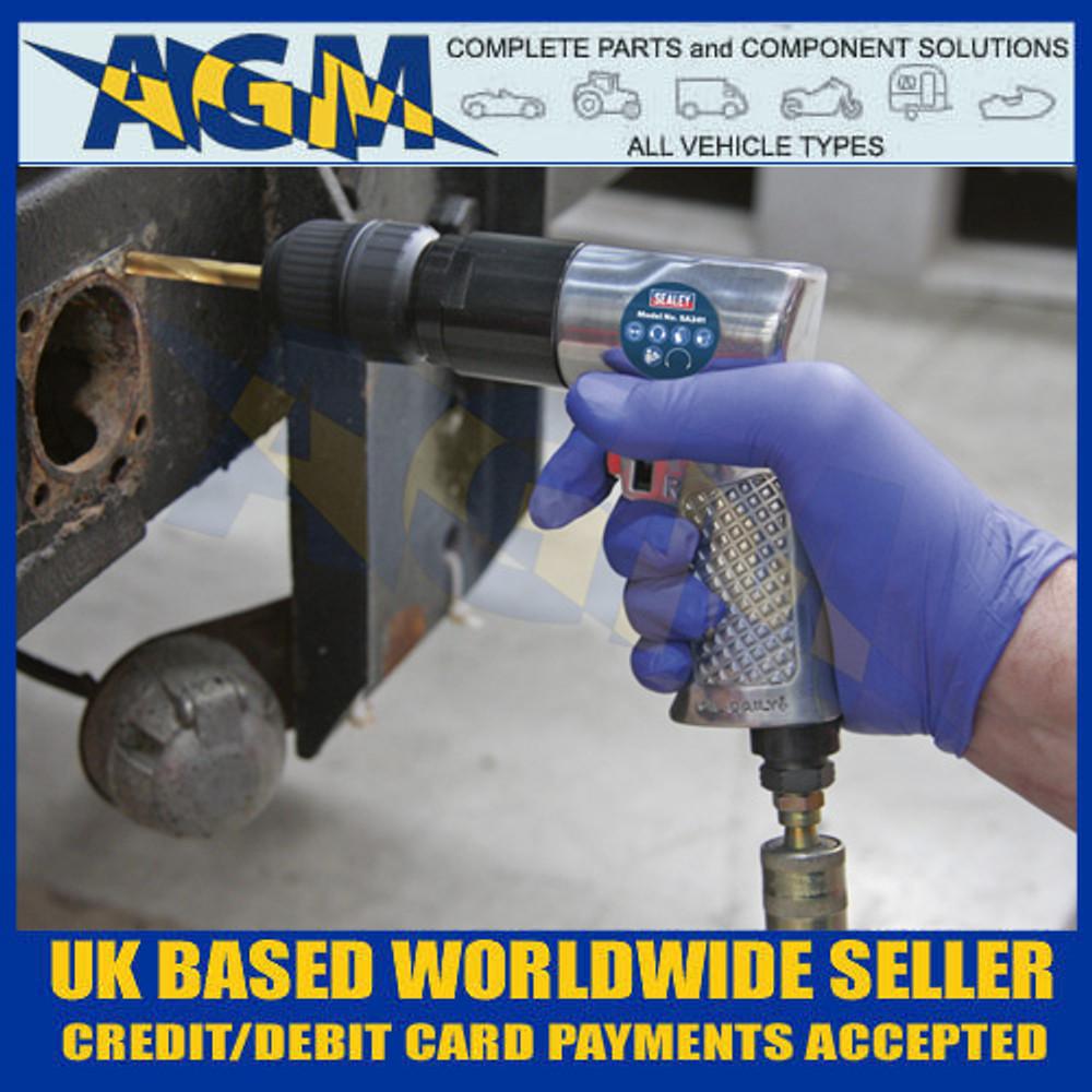 Sealey SA241 Air Drill Ø10mm Reversible with Keyless Chuck