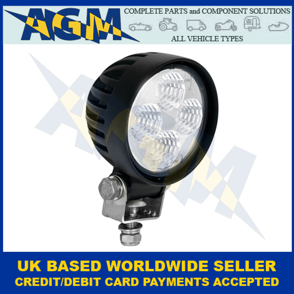 Led Autolamps 8312BM, Amber Output, Round Compact Flood Beam Work Lamp, 12/24V
