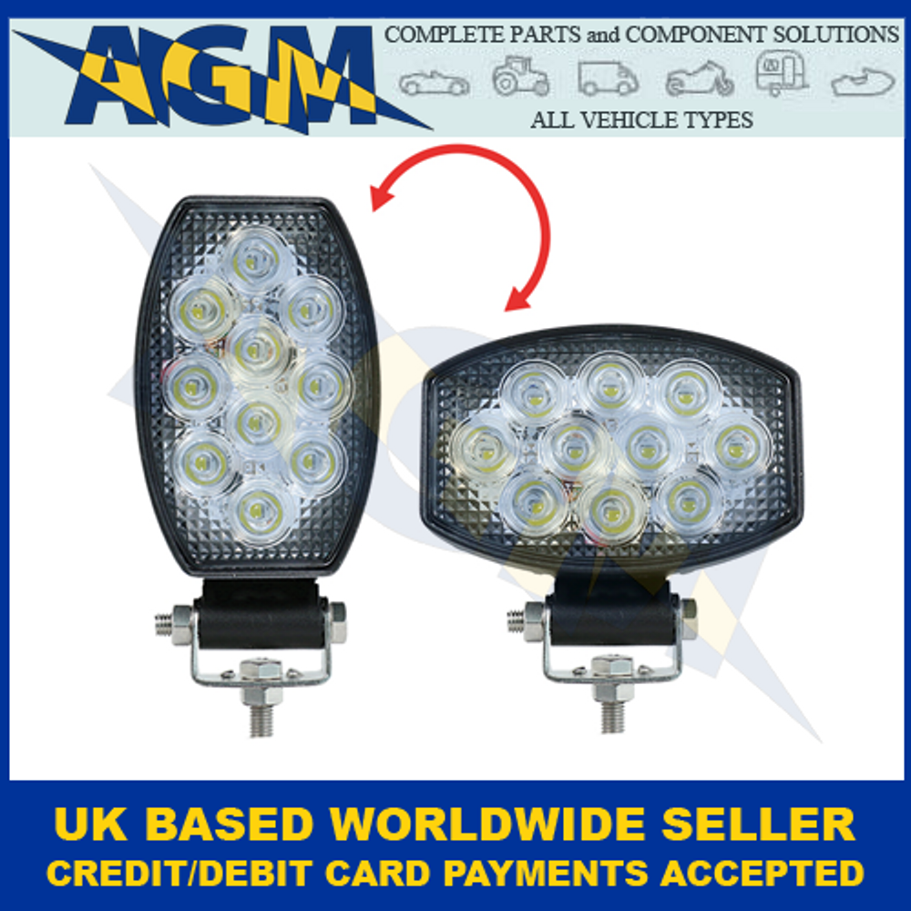Led Autolamps 15030BMV, Horizontal Or Vertical, Oval Flood Lamp, 12/24v