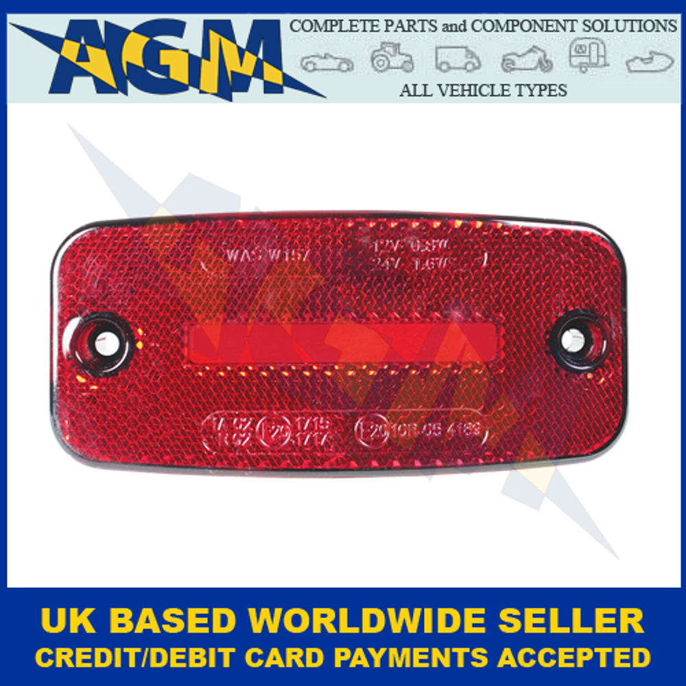 Guardian Automotive ML100R, Red LED Rear Marker With Neon Effect, 12-24v